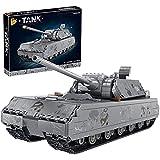 FYHCY Technik Bausteine Panzer Bauset, 2127 Klemmbausteine Militär World War II German Panzer VIII Maus Modellbausatz, Technik Panzer Kompatibel mit Lego Technic