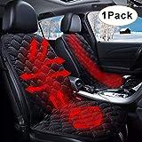 SEAMETAL Sitzheizung Auto Heizkissen 12V Beheizte Sitzauflage Universal Regulierbare Vordersitz Heizauflage (Dark)