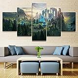 OCRTN Wandkunst Home Decoration 5 Stück League of Legends Bild Leinwanddruck Poster Modulares Bild Kunstwerk für Wohnzimmer / 30x40 30x60 30x80cm -Rahmenlos
