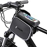 Furado Fahrrad Rahmentasche Wasserdicht- Fahrradtasche Rahmen, Fahrrad Handytasche, Fahrradzubehör mit Kopfhörerloch Reflektierend für Smartphone