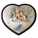Motivationsgeschenke Schutzengel-Bild Engel betend Herzform Wandbild für Kinderzimmer