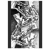 QWGYKR Mc Escher Haus Der Treppe Kunstdruck Poster Ölgemälde Leinwand Wandkunst Poster Und Drucke Für Wohnkultur -20X30 Zoll Kein Rahmen