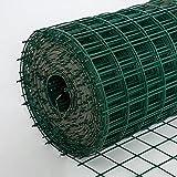 U/D Maschendrahtzaun, 6 cm Maschenweite 2,2 Mm Drahtdurchmesser Grüner PVC-Beschichteter Verzinkter Stahldraht Gartenzaunrolle,Grün,1.2mx30m