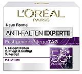 L'Oréal Paris Anti-Falten Experte Tagescreme 55+, Anti-Age Feuchtigkeitspflege mit Calcium, mildert tiefere Falten, die Haut wird gefestigt und 24H mit Feuchtigkeit versorgt, 50ml