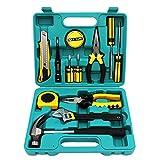 AMAZOM Reparaturwerkzeug Für Zu Hause, Werkzeugsatz Für Den Allgemeinen Haushalt, Handwerkzeugsatz Für Die Autoreparatur Zu Hause Mit Werkzeugkasten Aufbewahrungskoffer