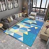 kinderzimmer deko Junge Blauer rechteckiger Teppich Wohnzimmer Schlafzimmer Dekoration Weichheit kinderzimmer deko Junge waschbare teppiche 200x280cm 6ft 6.7' X9ft 2.2'