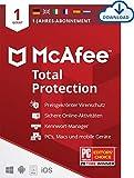 McAfee Total Protection 2021   1 Geräte   1 Jahr   Antivirus Software, Virenschutz-Programm, Passwort Manager, Mobile Security, Multi Geräte   PC/Mac/Android/iOS  Europäische Ausgabe  Download Code