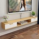 Wandbehang TV-Schrank,Massivholz TV Schrank Hängeboard,Fernsehtisch Hängeboard Multifunktionale mit Hoher KapazitäT FüR Wohnzimmer Schlafzimmer/C / 120cm