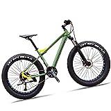 NZKW 26 Zoll Fat Tire Hardtail Mountainbike für Erwachsene Männer Frauen, 27-Gang-Frontfederung Mountainbike mit doppelter hydraulischer Scheibenbremse, All Terrain Anti-Rutsch-Mountain