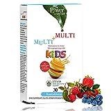 Multi-Vitamine | 10 Wirkstoffe Speziell Für Kinder Dosiert | Monatspackung 30 Kautabletten Mit C B D3 Vitaminen | Fruchtig, Ohne Zucker-Zusatz, Vegetarisch | Herstellung in Deutschland