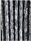 Moritz Flauschvorhang aus Chenille 56 x 185 cm dunkelgrau - grau Türvorhang als Fliegenschutz Insektenschutz für Camping Wohnwagen