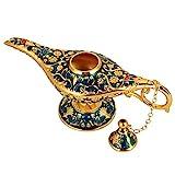 Genie Öllampe Sammelbare seltene Wishing klassische Vintage Aladdin Magic Genie Startseite Teekanne Öl Lampe Dekoration Geschenk(Transparent Blau)