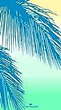 TOM TAILOR 0110377 Strand- und Liegetuch Velours Palm Leaves 1x 85x160 cm green