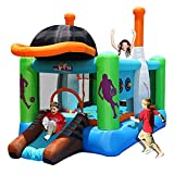 FHISD Hüpfburgen Kinderrutschen Aufblasbare Kinderburgen Indoor und Outdoor Große Vergnügungsparks Kindergarten Kindertrampoline Spielspielzeug für Kinder