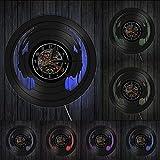 Wohnkultur Audio Slave Kopfhörer DJ Wandkunst Wanduhr Musikliebhaber Silhouette Schallplatte Uhr Für diejenigen, die Nicht ohne Musik Leben kö
