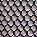 Gartenzäune, Gartenschutznetz, Kunststoff, Absperrzaun, dekorativer Zaun für Tierlandschaftsbau, Barriere für Menschenmengen, Hund/Tier-Barrieren (0,4 m x 4 m), schwarz)