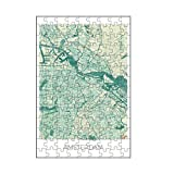 artboxONE-Puzzle S (112 Teile) Städte Amsterdam, Niederlande - Puzzle Karte Karte Map