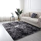 Nordischer Moderner Einfacher Bunter Batik-Farbverlaufsteppich Verdickter Doppelschichtiger Wohnzimmer-Couchtischmatte Rutschfester, Haltbarer Schlafzimmerteppich, Waschbarer Haustierb