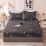 HPPSLT Matratzen-Bett-Schoner mit Spannumrandung   Betten und Wasserbetten geeignet 100% Baumwolle Einzelbettlaken Vollbezug-12_120 * 200cm