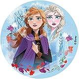 Dekora - 231347 Frozen II Die Eiskönigin Tortenaufleger aus zuckerfreiem Esspapier - 16 cm