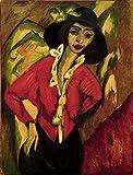 Art-Galerie Digitaldruck/Poster Ernst Ludwig Kirchner - Frauenkopf, Gerda - 50 x 66cm - Premiumqualität - Made in Germany