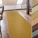 casa pura Sisal Teppich Läufer   Natur   Naturfaser   Qualitätsprodukt aus Deutschland   kombinierbar mit Stufenmatten   19 Breiten und 18 Längen (60x80 cm)