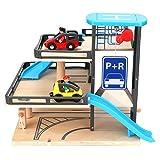Wosune Holzgarage Spielzeug, Holz Fahrzeug Park Spielzeug, sicher attraktiv für Kinder Teenager Kinder Freunde Kleinkind