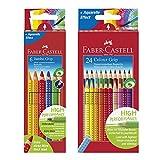 Faber-Castell 110906 - Buntstifte Jumbo Grip, 6er Kartonetui + 24er Colour Grip