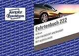 AVERY Zweckform 222 | 1x Fahrtenbuch für PKW, (A6 quer, 40 Formulare auf 80 Seiten, insgesamt 390 Fahrten pro Buch, für Deutschland und Österreich) inkl. Gesamtübersicht und Kraftstoffverbrauchstabelle, weiß (1 Stück)