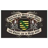 Spass kostet Fahne mit Ösen Flagge Sachsen Spruch 90 x 150 cm