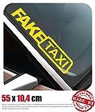 Fake Taxi Frontscheibenaufkleber 55,0 cm x 10,4 cm Auto Aufkleber JDM OEM Tuning Sticker Decal 30 Farben zur Auswahl