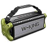 W-KING 50W(70W Piek) Bluetooth Lautsprecher Wasserdicht, 24 Stunden Laufzeit, 8000mAh Power Bank, 30 Meter Reichweite, Tragbare Bluetooth Speaker Box Lautsprecher Musikbox mit TWS/NFC (Grün)
