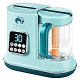 Babynahrungszubereiter, Babybrei Zubereiter Dampfgarer und Mixer, Automatisches Garen & Flaschenwärmer, Babynahrungsmühle mit Selbstreinigendem Wassertank für Lebensmittel Püree Säugling Babys