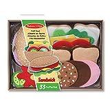 Melissa & Doug 13954 | Filz-Lebensmittel-Set Für Belegte Brote | Rollenspielzeug | 3+ years