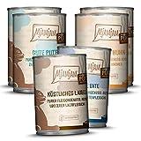 MjAMjAM - Premium Nassfutter für Katzen - Mixpaket 5 - Purer Fleischgenuss, 6er Pack (6 x 400 g), getreidefrei mit extra viel Fleisch