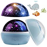CPROSP Projektor Kinder, Ozeanwelt, Sternwelt, 360° Drehbar, 8-Farbwechsel mit USB Kabel, Geburtstag, B