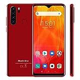 Blackview A80 Plus Smartphone ohne Vertrag, Android 10 Handy, 6,49 Zoll HD + Display, 4GB+64GB, 13MP+8MP Quad Kamera, 4680 mAh Akku, Dual SIM Smartphone 4G, GPS, Rot