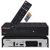 RED OPTICUM AX 300 VFD Sat Receiver mit PVR I Digitaler Satelliten-Receiver HD mit alphanumerischem Display - DVB-S2 - HDMI - SCART - USB 2.0 - Coaxial Audio I 12V Netzteil ideal für Camping