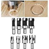 Holzstopfenbohrer 8 Stück / Set Hochwertiges Material, Tischbohrer und elektrisches Handbohrzubehö