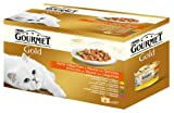 Gourmet Gold Zarte Häppchen mit Gemüse (Kalb, Ente, Forelle, Kaninchen) 4 x 85 g