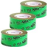3x Dampfsperrklebeband Folienklebeband 50 mm x 25 m für eine luft- und winddichte Verklebung von Dampfbremsen und Dampfsp