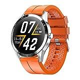 Smart Watch für Herren Full Touch Screen Activity Tracker Pulsmesser Blutdruck Fitness Smartwatch Wasserdicht Herren Sportuhr mit Stoppuhr Schrittzähler Schlaf-Grün-F