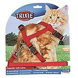 Trixie 41960 Katzengeschirr mit Leine, XL, Nylon, 34–57 cm/13 mm, 1,20 m, verschiedene Farb