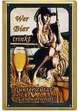 Geschenkeparadies 24 Deko Blechschild 20x30cm Wer Bier trinkt unterstützt die Landwirtschaft