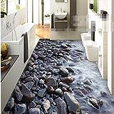 Benutzerdefinierte große Boden 3D Blackstone Costa wasserdicht Badezimmer Wasser Wohnzimmer tragen dickere PVC-Boden selbstklebende Tapete 350x245cm
