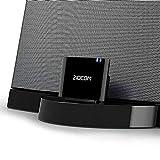 ZIOCOM Bluetooth-Adapter für Bose SoundDock, drahtloser Bluetooth-Audioempfänger für 30-poligen iPhone iPod Dock-Lautsprecher, Nicht für Autos oder Motorräder geeignet, schwarz