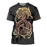 SSBZYES Herren T-Shirt Sommer Herren Kurzarm T-Shirt Herren Rundhals T-Shirt Herren Tattoo Kurzarm Bedrucktes T-Shirt Herren Großes T-Shirt