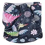 Stoffwindel, weiche Weichheit Dreischichtiges Design Windel, Wasserdurchlässigkeit Anti-Umkehrosmose-Stretch für Kleinkinder(Mixed color (BL043))