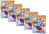 WC FRISCH Winter Edition Pistenfuchs, WC-Reiniger und violettes Wasser, Spapack 5x 1 Stück, Farbspüler mit 50 Prozent mehr Glanz