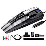 Tragbarer Staubsauger-Handheld, 4-in-1-Auto-Staubsauger tragbarer trockener/nasser doppelter vakamischer Staubsauger 12V 120W Smart Digital-LED-Licht jianyou